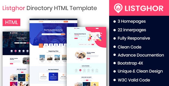Listghor - Directory &  Listing HTML Template - Business Corporate