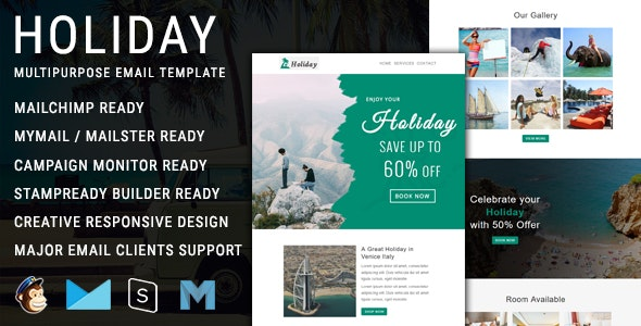 Holiday - Multipurpose Responsive Email Template - Newsletters Email Templates
