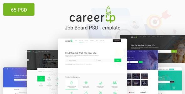 CareerUp - The Most Popular Job Board PSD Template - Corporate Photoshop