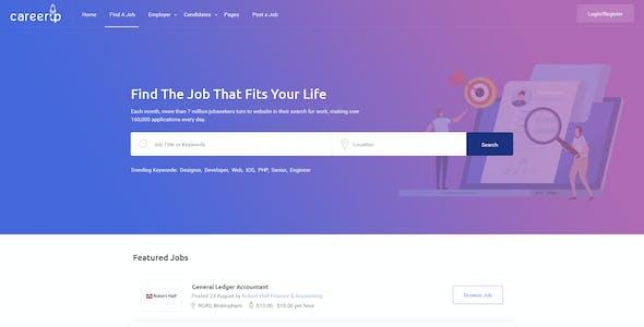 CareerUp - The Most Popular Job Board PSD Template