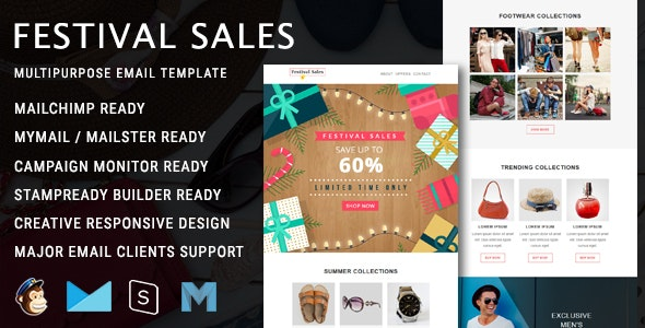 Festival Sales - Responsive Email Template - Newsletters Email Templates