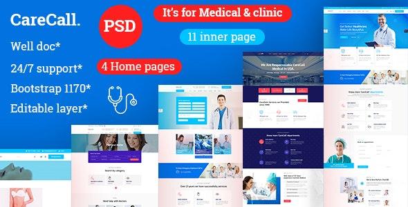 CareCall | Medical, Hospital & Clinic PSD Template - Health & Beauty Retail