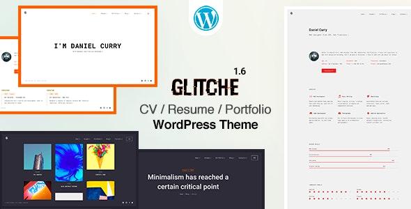 Glitche - CV/Resume Theme - Portfolio Creative