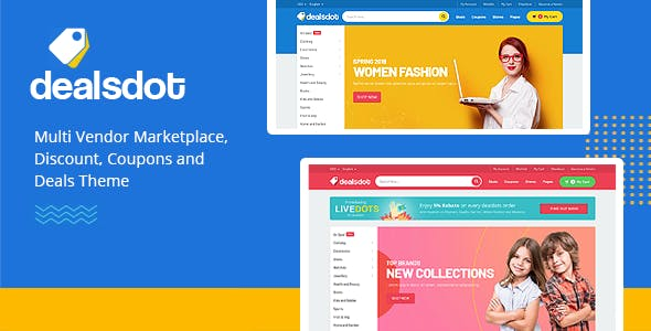 Dealsdot - Multi Vendor Marketplace WordPress Theme