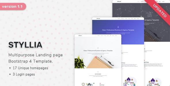 Styllia - Multipurpose Landing page Template - Landing Pages Marketing