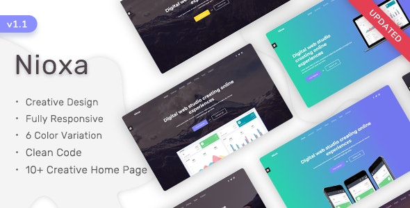 Nioxa - Responsive Landing Page Tamplate - Landing Pages Marketing