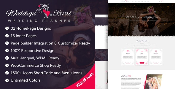 Wedding Reval - Planner & Agency WordPress Theme - Wedding WordPress