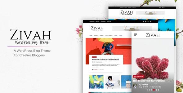 Zivah - WordPress Blog Theme For Creative Bloggers - Personal Blog / Magazine