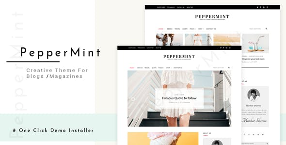 PepperMint - Creative WordPress Theme for Blogs/Mini-Magazines