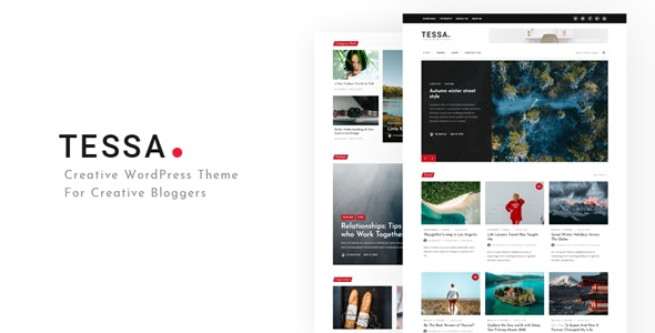 Tessa - Modern Theme for Blogs & Magazines - Blog / Magazine WordPress