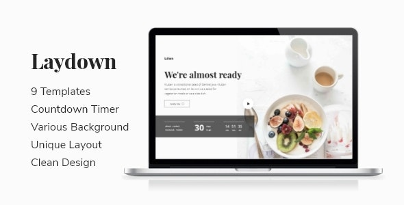 Laydown - Coming Soon Template - Under Construction Specialty Pages