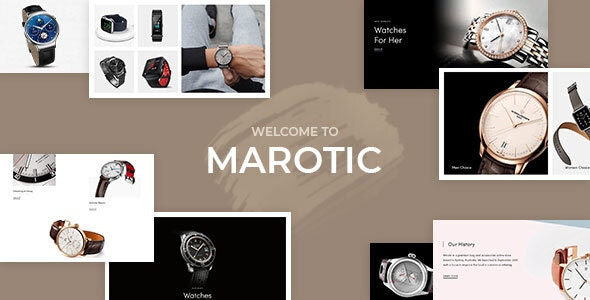 Marotic – Minimal & Clean Watch Store Shopify Theme - Shopify eCommerce
