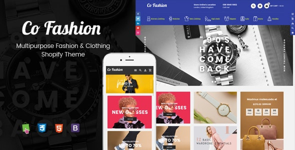 CoFashion - Multipurpose Drag & Drop Fashion Theme - Shopify eCommerce