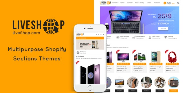 LiveShop - Multipurpose Drag & Drop Shopify Theme - Shopify eCommerce