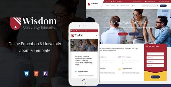 Wisdom - Multipurpose & Responsive Education Joomla Temple - Corporate Joomla