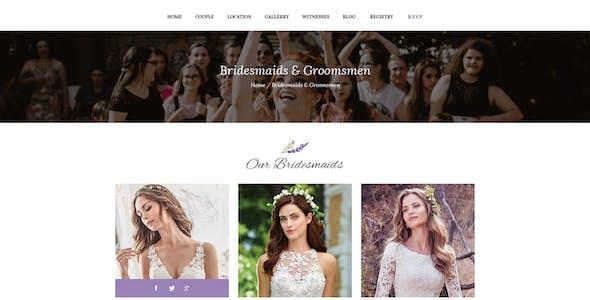 Wedding - Resonsive Event Joomla Template