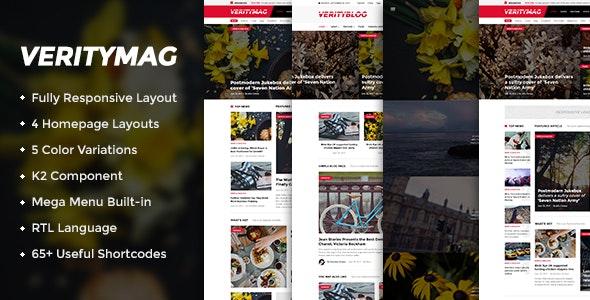 VerityMag - Creative News/Magazine Joomla Template - Blog / Magazine Joomla