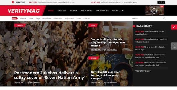 VerityMag - Creative News/Magazine Joomla Template