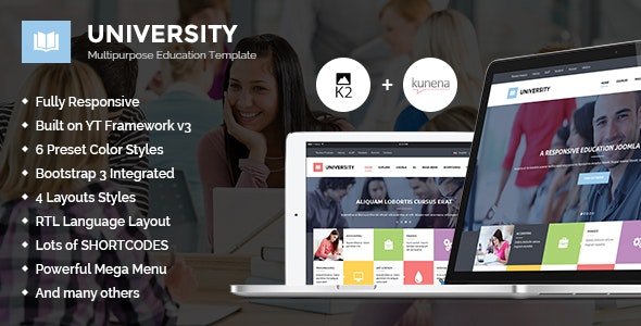 University II - Multipurpose Education Template - Corporate Joomla
