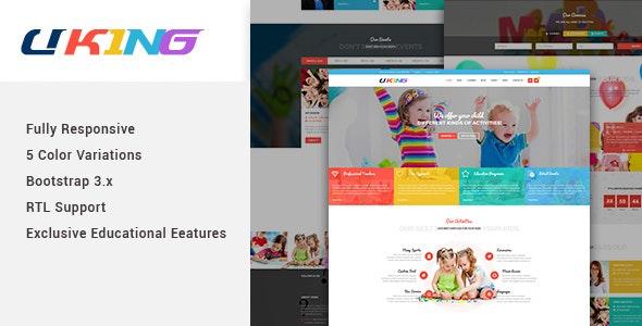 Uking - Responsive Joomla kindergarten Template - Children Retail