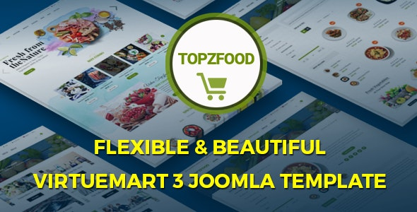 TopzFood - Multipurpose VirtueMart eCommerce Joomla Templates - VirtueMart Joomla