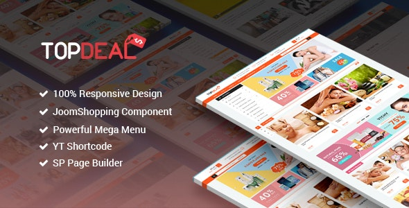 TopDeal - Responsive Multipurpose Deal, eCommerce Joomla Template With Page Builder - Retail Joomla