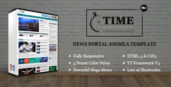 Time - Responsive News Portal Joomla Template