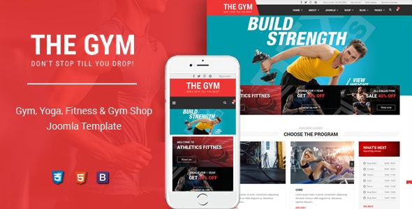 TheGym - Yoga, Fitness & Accessories Shop Joomla Template - Retail Joomla