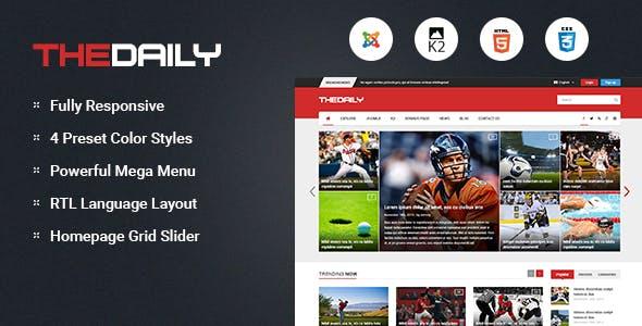 TheDaily - Responsive News Portal Joomla Template
