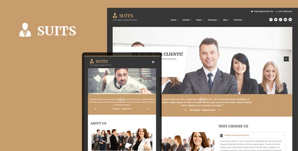 Suits - Responsive Attorneys and Law Firms Joomla Template - Business Corporate