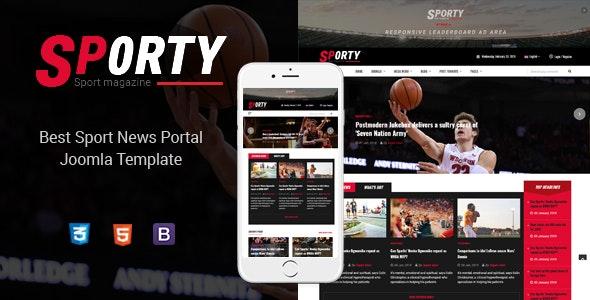 Sporty - Flexible Sports News Joomla Template - Blog / Magazine Joomla