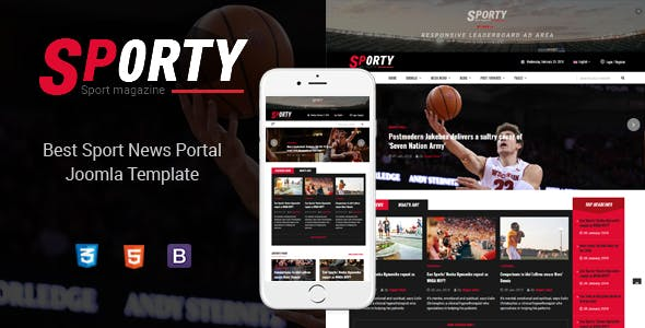 Sporty - Flexible Sports News Joomla Template