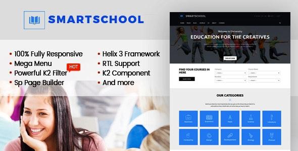 SmartSchool - Creative Responsive School, Education Joomla Template With Page Builder - Corporate Joomla
