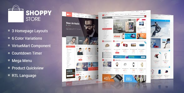 ShoppyStore -  Responsive Multipurpose VirtueMart Theme