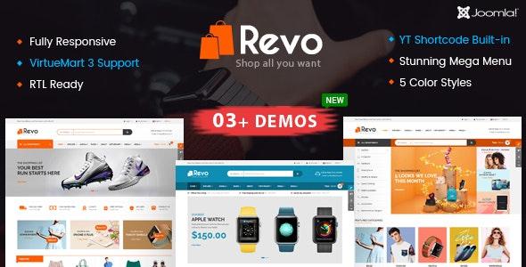 Revo - Multipurpose eCommerce VirtueMart 3 Joomla Template - VirtueMart Joomla