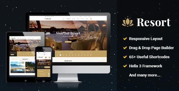 Resort II - Ultimate Responsive Hotel, Travel Joomla Template - Travel Retail