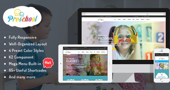 Preschool - Children Education Joomla Template for Kindergarten, Child Care Centers - Business Corporate
