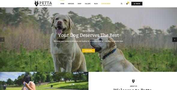 Petta - Responsive Joomla Template for Pet Care Service Shop