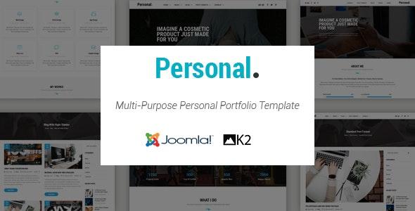 Personal - Responsive Multi-Purpose Portfolio Joomla Template With Page Builder - Portfolio Creative