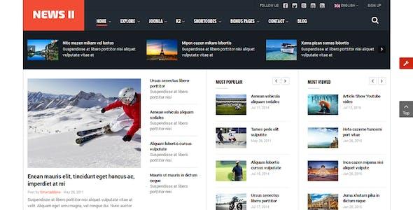News II - Responsive News/Magazine Joomla Template