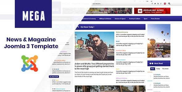 MegaNews - Responsive & Professional News Magazine Joomla Template - Blog / Magazine Joomla