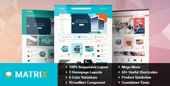 Matrix - Responsive VirtueMart Joomla Template - VirtueMart Joomla