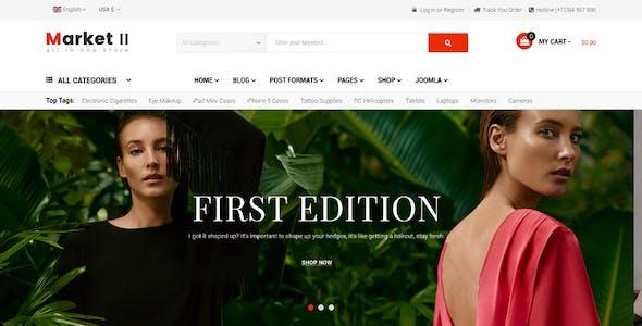 Market II - Multipurpose eCommerce VirtueMart 3 Joomla Template