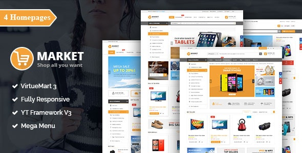 Market - Responsive Multipurpose VirtueMart Theme - VirtueMart Joomla