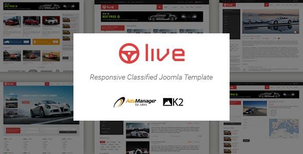 Live - Responsive Classified Joomla Template