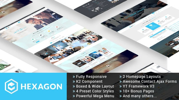 Hexagon - Responsive Multipurpose Business Joomla Template - Business Corporate