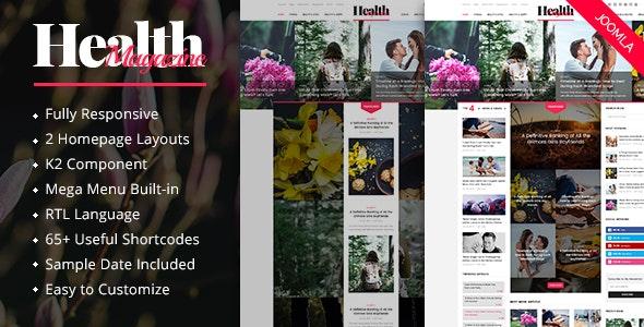 HealthMag - Multipurpose News/Magazine Joomla Template - News / Editorial Blog / Magazine