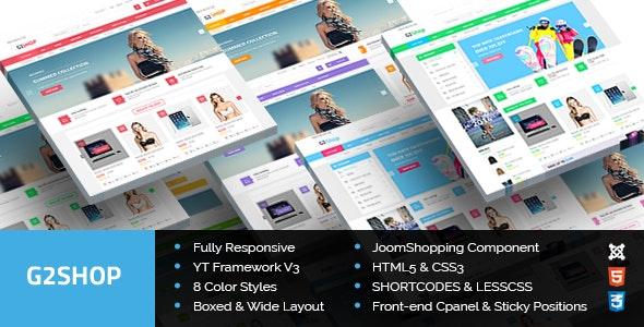 G2Shop - Responsive Ecommerce Joomla Template - Retail Joomla