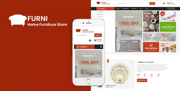 Furni - Responsive Furniture VirtueMart 3 Template - VirtueMart Joomla