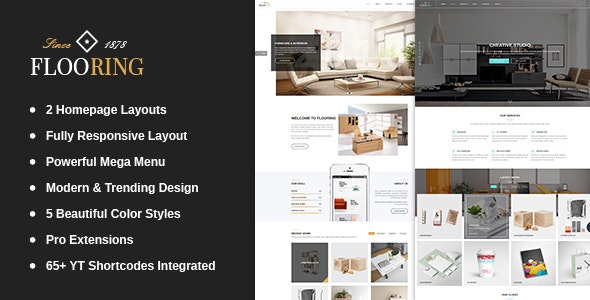 Flooring -  An Ideal Responsive Joomla Template For Interior Stores - Joomla CMS Themes